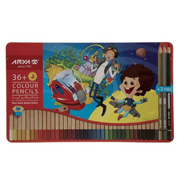 مداد رنگی آریا Arya بسته 39 رنگ