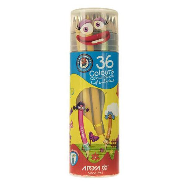 مداد رنگی آریا Arya بسته 36 رنگ استوانه ای