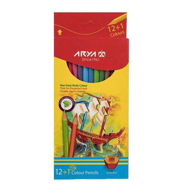 مداد رنگی آریا 12+1 رنگ کد 3016
