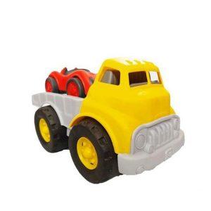 ماشین بازی نیکو تویز طرح کامیون حمل ماشین مسابقه زرد