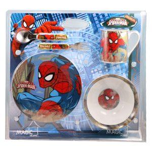 سرویس غذاخوری چینی 5 تکه طرح Spider Man