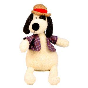 عروسک پولیشی سگ کلاه شاپو دار بزرگ