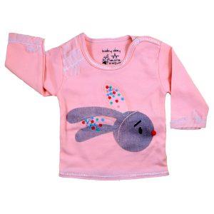 تی شرت دخترانه آستین بلند بیبی دی طرح خرگوش بانی