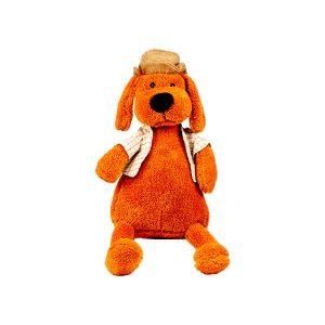 عروسک پولیشی سگ کلاه شاپو دار کوچک