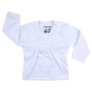 تی شرت دخترانه آستین بلند بیبی دی طرح عروس