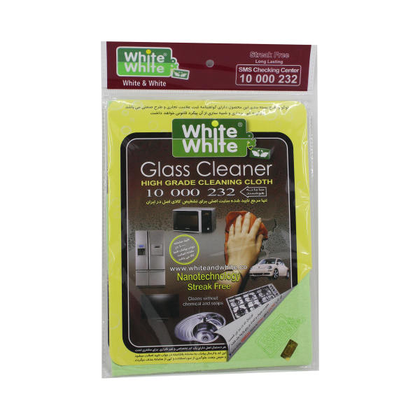 دستمال جادوئی White & White مدل glascleaner