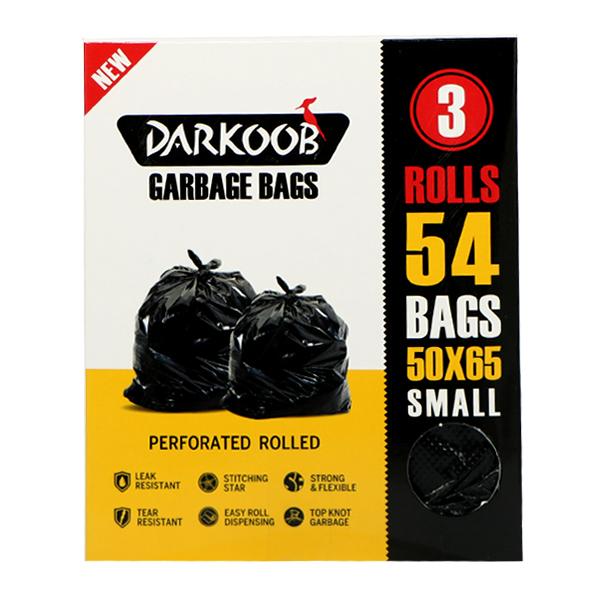 کیسه زباله پرفراژدار دارکوب 3 رول کوچک 54 عددی