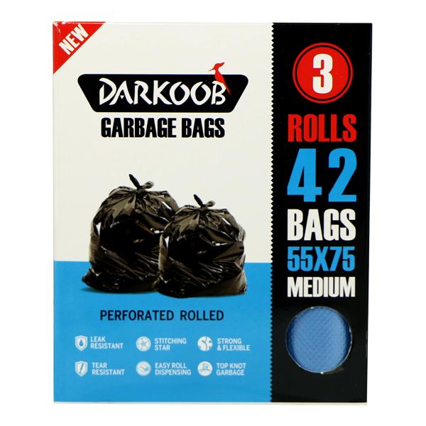 کیسه زباله پرفراژدار دارکوب 3 رول متوسط 42 عددی