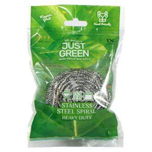 سیم ظرفشویی Just green مدل Steel spiral