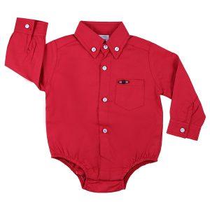 شومیز زیر دکمه دار پسرانه Zara baby طرح گوچی قرمز