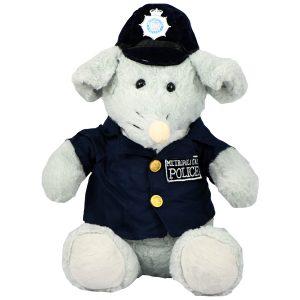 عروسک پولیشی موش پلیس سرمه ای