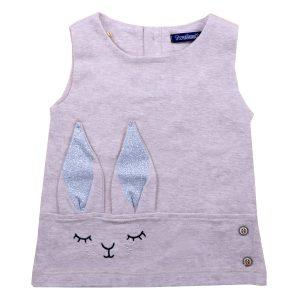 پیراهن دخترانه تودوک طرح خرگوش کرم