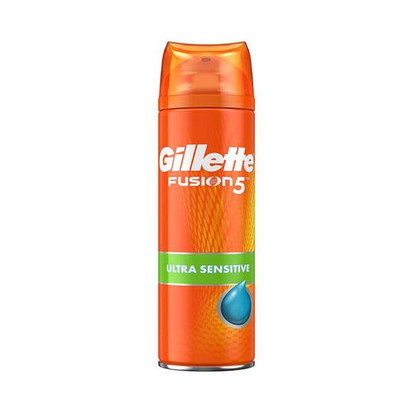 ژل اصلاح مردانه ژیلت سری Fusion5 مناسب پوست های حساس