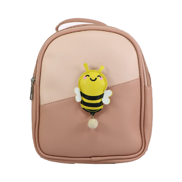 کوله پشتی بچه گانه مدل چرم طرح زنبور