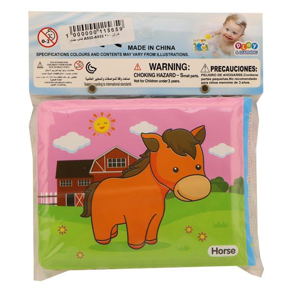 کتاب حمام کودک Bath book طرح حیوانات مزرعه سایز کوچک