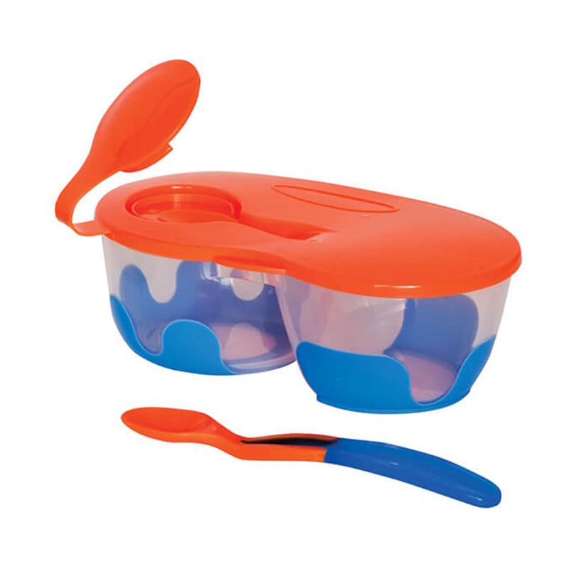ست ظرف غذای کودک نارنجی کد 8559 به به دور Bebedor