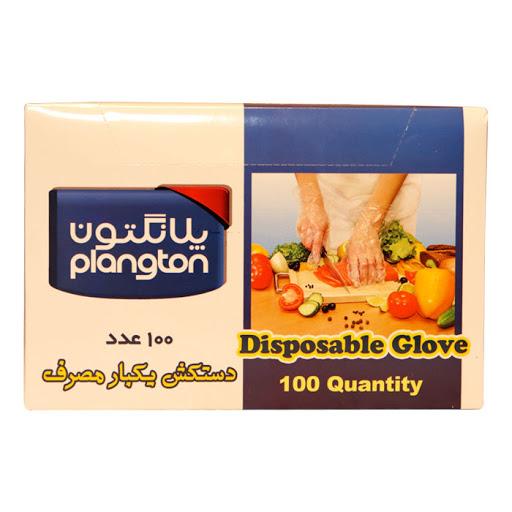 دستکش یکبار مصرف پلانگتون جعبه ای 100 عددی