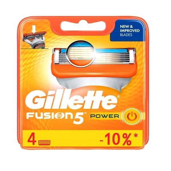 تیغ یدک ژیلت 4 عددی سری Fusion مدل Power