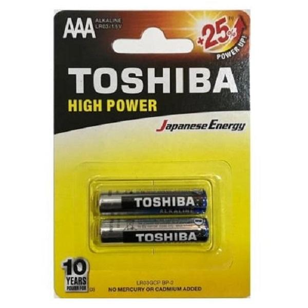 باتری نیم قلمی TOSHIBA مدل HIGH POWER بسته 2 عددی