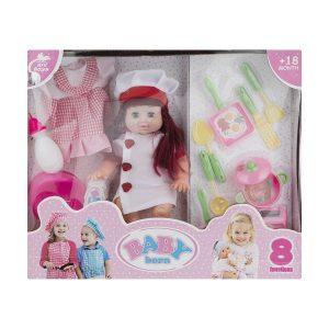 عروسک بیبی بورن BABY born مدل سر آشپز
