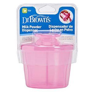 ظرف نگهدارنده شیرخشک DR BROWNS ظرفیت 250 میل صورتی