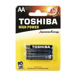 باتری قلمی TOSHIBA مدل HIGH POWER بسته 2 عددی