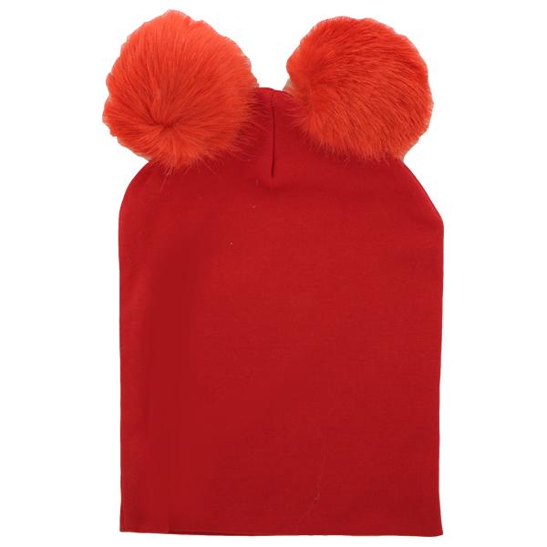 کلاه زمستانی کشی ترک مدل pom pom قرمز