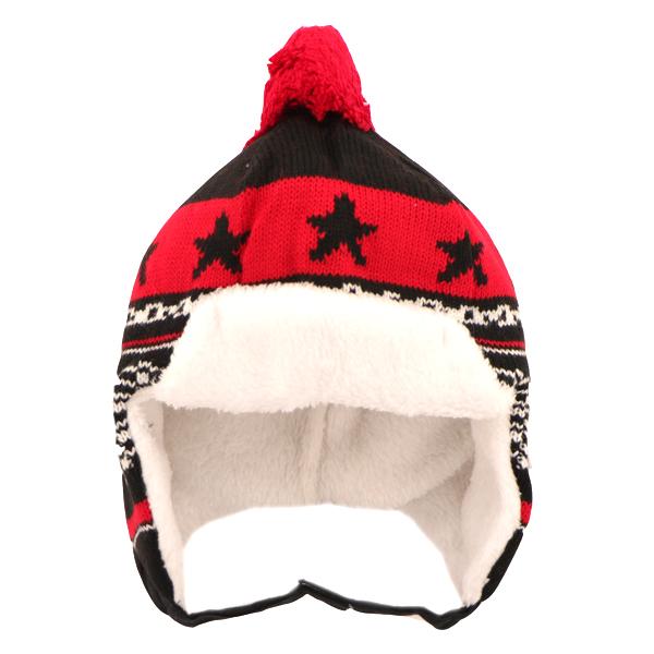 کلاه زمستانی بافتنی کد 301 طرح ستاره