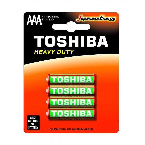 باتری نیم قلمی TOSHIBA مدل HEAVY DUTY بسته 4 عددی