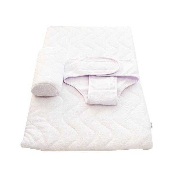تشک شیب دار isiz به همراه غلتگیر و قنداق چسبی سفید