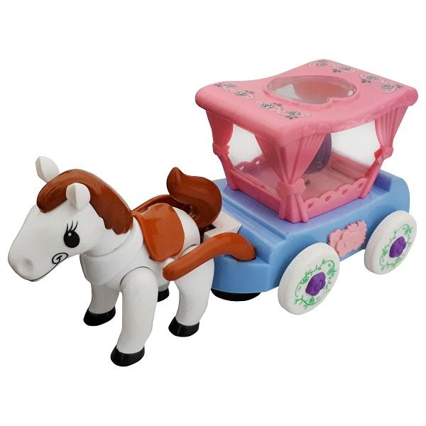 اسباب بازی اسب و کالسکه موزیکال CArToon