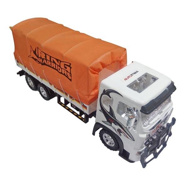 ماشین اسباب بازی درج توی مدل کامیون ترانزیت نارنجی