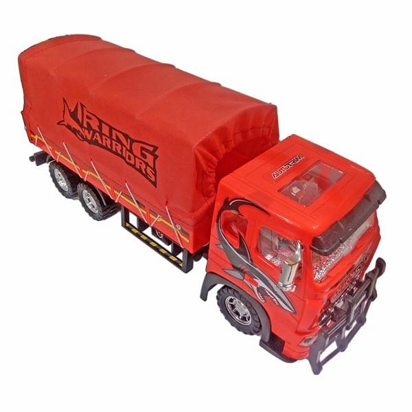 ماشین اسباب بازی درج توی مدل کامیون ترانزیت قرمز