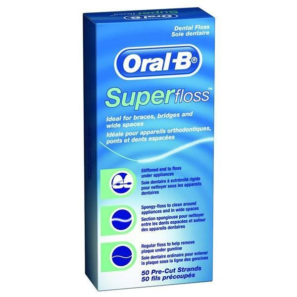 نخ دندان ارتودنسی اورال بی مدل Super Floss