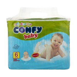 پوشک کانفی Confy سایز 6 بسته 28 عددی