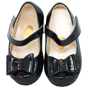 کفش دخترانه پاپیون دار ورنی رنگ مشکی