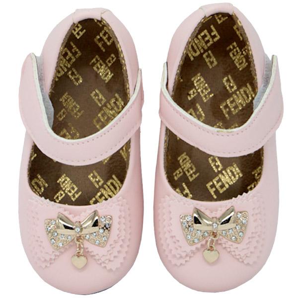 کفش دخترانه پاپیون دار ورنی رنگ صورتی