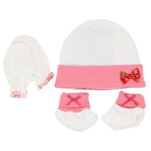 ست پاپوش دستکش و کلاه نوزاد