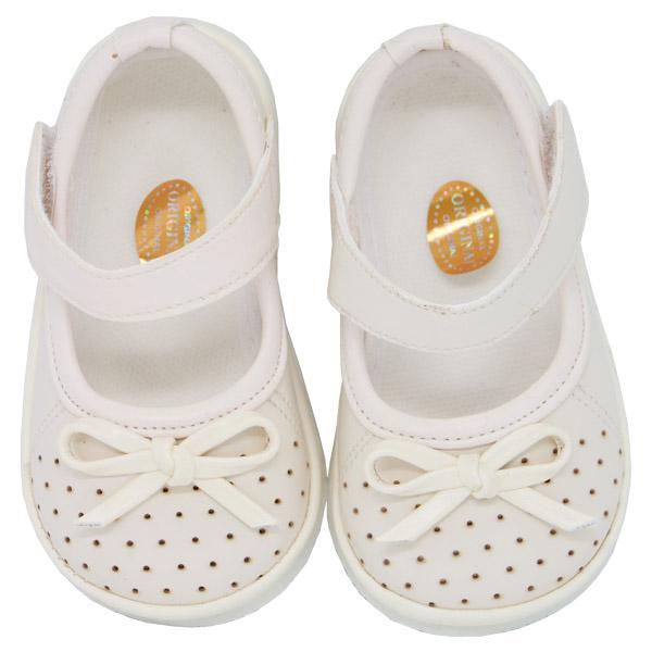 کفش دخترانه پاپیون دار رنگ کرم