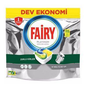 قرص ماشین ظرفشویی فیری fairy حاوی پلاتینیوم بسته 115عددی