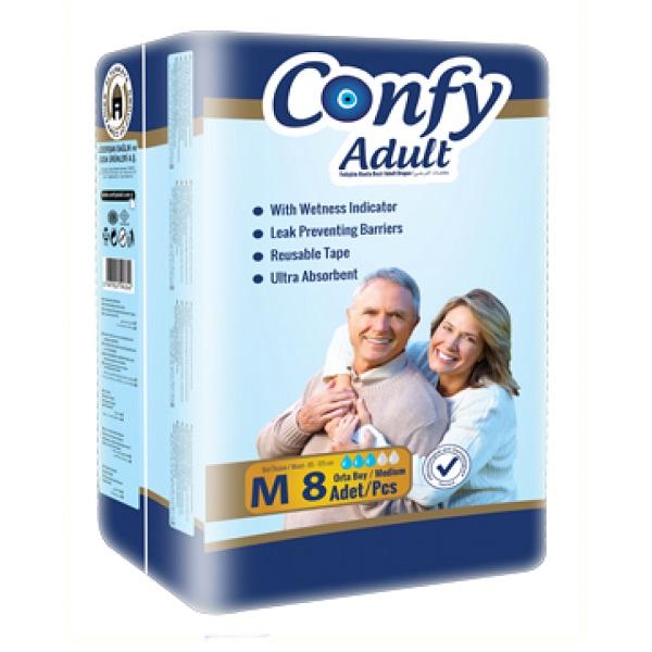 پوشک کامل بزرگسال کانفی Confy سایز M بسته 8 عددی