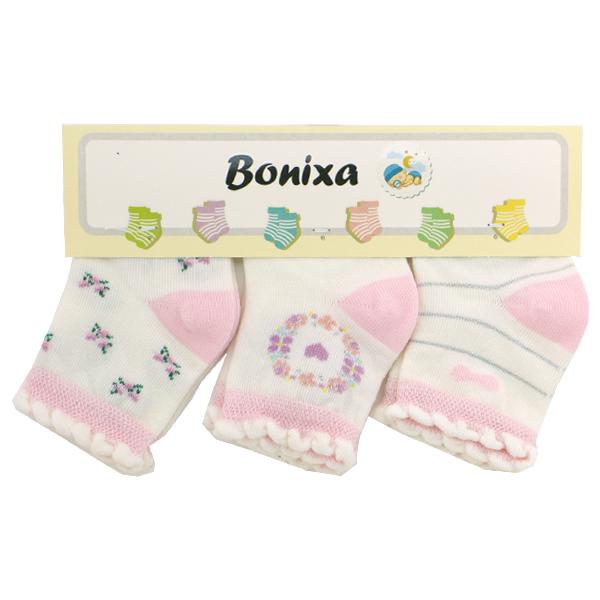 جوراب نوزادی ترک بونیکسا (Bonixa) بسته 3 عددی