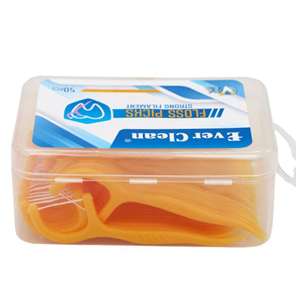نخ دندان کمانی اورکلین بسته 50 عددی