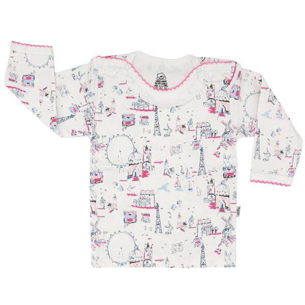 تی شرت دخترانه آستین بلند لیدولند طرح چرخ و فلک