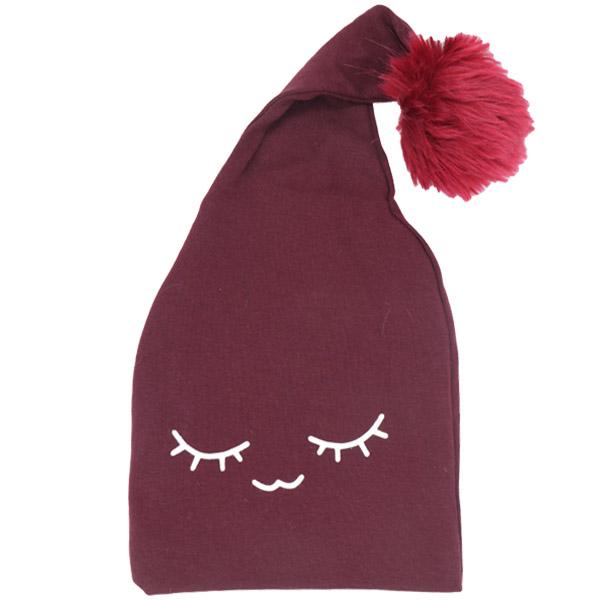 کلاه pom pom شیطونی لایت رنگ زرشکی