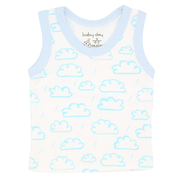تیشرت پسرانه آستین حلقه ای بیبی دی طرح ابر و باران