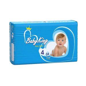 پوشک بیبی کینگ Baby King سایز 4 بسته 34 عددی