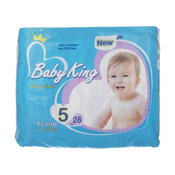 پوشک بیبی کینگ Baby King سایز 5 بسته 28 عددی
