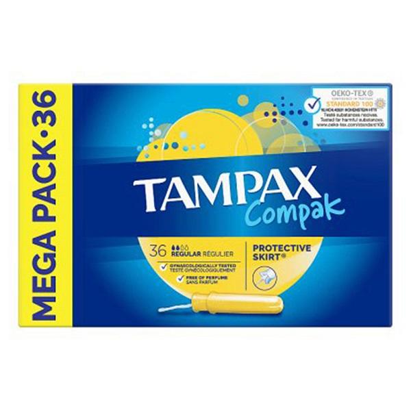 تامپون تامپکس Tampax مدل Regular Compak بسته 36 عددی