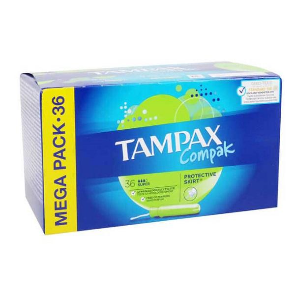 تامپون تامپکس Tampax مدل Super Compak بسته 36 عددی